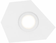 Kuzco FM4201-WH-WH Organica Modern White / White LED Flush Mount Light Fixture