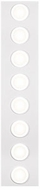 Kuzco FM4245-WH-CH Broadway Contemporary White / Chrome LED Ceiling Lighting