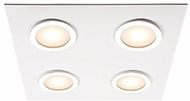 Kuzco FM4415-WH-CH Broadway Contemporary White / Chrome LED Ceiling Light Fixture