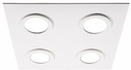 Kuzco FM4415-WH-WH Broadway Modern White / White LED Ceiling Lighting Fixture