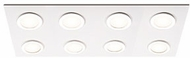 Kuzco FM4425-WH-CH Broadway Contemporary White / Chrome LED Ceiling Light Fixture