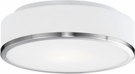 Kuzco FM6012-BN Charlie Contemporary Brushed Nickel LED Ceiling Light Fixture