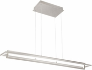 Kuzco LP16140-BN Mondrian Modern Brushed Nickel LED Kitchen Island Lighting