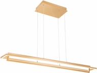 Kuzco LP16140-SG Mondrian Contemporary Soft Gold LED Kitchen Island Light