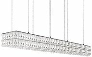 Kuzco LP78260 Solaris Chrome LED 59  Kitchen Island Lighting