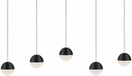 Kuzco MP10505-BK Supernova Contemporary Black LED Multi Hanging Lamp