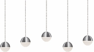 Kuzco MP10505-BN Supernova Modern Brushed Nickel LED Multi Hanging Light
