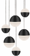 Kuzco MP10506-BK Supernova Modern Black LED Multi Pendant Lighting Fixture