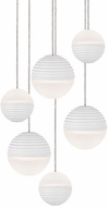 Kuzco MP10506-WH Supernova Modern White LED Multi Hanging Pendant Light