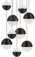 Kuzco MP10509-BK Supernova Contemporary Black LED Multi Pendant Hanging Light