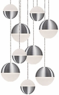 Kuzco MP10509-BN Supernova Modern Brushed Nickel LED Multi Hanging Light Fixture