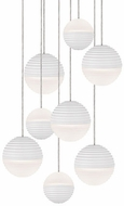 Kuzco MP10509-WH Supernova Contemporary White LED Multi Drop Lighting