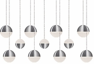 Kuzco MP10511-BN Supernova Contemporary Brushed Nickel LED Multi Ceiling Light Pendant