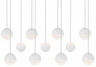 Kuzco MP10511-WH Supernova Modern White LED Multi Ceiling Pendant Light