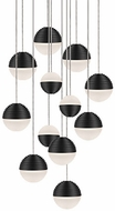 Kuzco MP10512-BK Supernova Contemporary Black LED Multi Drop Ceiling Light Fixture