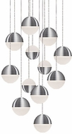 Kuzco MP10512-BN Supernova Modern Brushed Nickel LED Multi Drop Lighting Fixture