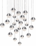 Kuzco MP10524-BN Supernova Modern Brushed Nickel LED Multi Hanging Light