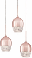 Kuzco MP12803-RG Roma Rose Gold LED Multi Hanging Pendant Lighting