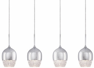 Kuzco MP12804-CH Roma Chrome LED Multi Hanging Pendant Light