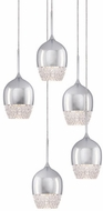 Kuzco MP12805-CH Roma Chrome LED Multi Hanging Light Fixture