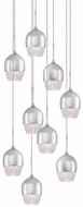 Kuzco MP12809-CH Roma Chrome LED Multi Ceiling Pendant Light