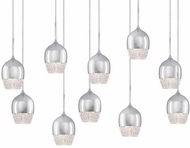 Kuzco MP12810-CH Roma Chrome LED Multi Drop Lighting Fixture
