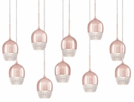 Kuzco MP12810-RG Roma Rose Gold LED Multi Pendant Lighting
