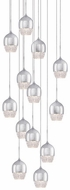 Kuzco MP12813-CH Roma Chrome LED Multi Pendant Light