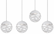 Kuzco MP2504-WH Neptune Contemporary White LED Multi Hanging Lamp