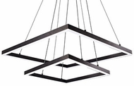 Kuzco MP62243-BK Piazza Modern Black LED Lighting Chandelier
