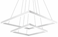Kuzco MP62243-WH Piazza Contemporary White LED Chandelier Lamp