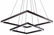 Kuzco MP62255-BK Piazza Modern Black LED Chandelier Light