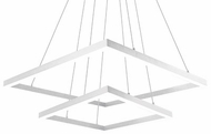 Kuzco MP62255-WH Piazza Contemporary White LED Ceiling Chandelier