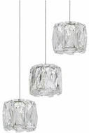 Kuzco MP7803 Chrome LED Multi Drop Ceiling Light Fixture