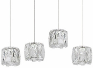 Kuzco MP7804 Chrome LED Multi Drop Lighting Fixture