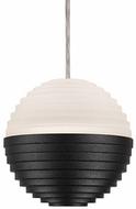 Kuzco PD10502-BK Supernova Contemporary Black LED Mini Hanging Pendant Light