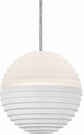 Kuzco PD10502-WH Supernova Contemporary White LED Mini Hanging Light Fixture
