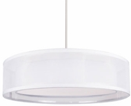 Kuzco PD11415-WH Covina Modern White LED 15  Drum Ceiling Light Pendant