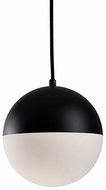 Kuzco PD11708-BK Contemporary Black LED Mini Pendant Light