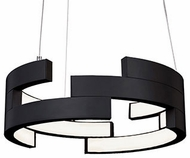 Kuzco PD12716-BK Anello Modern Black LED 16  Pendant Hanging Light