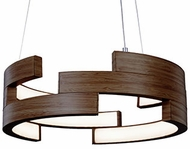 Kuzco PD12716-WT Anello Contemporary Walnut LED 16  Drop Ceiling Lighting