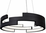 Kuzco PD12722-BK Anello Modern Black LED 22  Ceiling Light Pendant