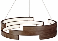 Kuzco PD12722-WT Anello Contemporary Walnut LED 22  Drop Lighting Fixture
