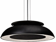 Kuzco PD13016-BK Eclipse Modern Black LED 16  Pendant Lighting Fixture