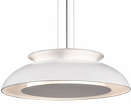 Kuzco PD13016-WH Eclipse Contemporary White LED 16  Hanging Pendant Lighting