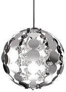 Kuzco PD1819-CH Butterfly Chrome LED 19  Drop Lighting