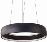 Kuzco PD22723-BK Halo Contemporary Black LED 23.25  Ceiling Light Pendant