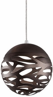 Kuzco PD2507-BZ Neptune Contemporary Bronze LED Mini Hanging Pendant Lighting