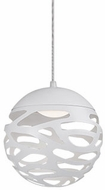 Kuzco PD2507-WH Neptune Modern White LED Mini Hanging Pendant Light