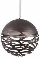 Kuzco PD2514-BZ Neptune Contemporary Bronze LED 13.75  Pendant Hanging Light